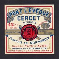 Etiquettes De Fromage.  Pont L'Evèque  CERCET  à  Montreuil La Cambe (61) - Kaas