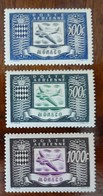 &7A& MONACO YVERT PA 42/44, MICHEL 394/396 MH*. AIRPLANE, AVION. - Airmail