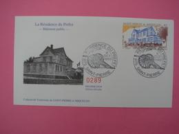 Enveloppe 1er Jour SPM/Saint Pierre Et Miquelon FDC N°289 LA RESIDENCE DU PREFET Oblitération 6.10.1993 - St.Pierre Et Miquelon