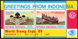 ID0680 Indonesia 1988 Mosque Building S/S - Indonésie