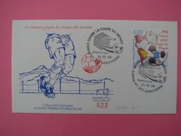 Enveloppe 1er Jour SPM/Saint Pierre Et Miquelon FDC N°622 France Gagne La Coupe Du Monde Oblitération 21.10.1998 - St.Pierre Et Miquelon