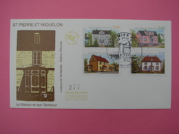 Enveloppe 1er Jour FDC SPM/Saint Pierre Et Miquelon. La MAISON ET SON TAMBOUR Oblitération 8.07.1998 - St.Pierre Et Miquelon