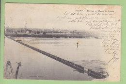 VICHY : Barrage Et Champ De Course. Dos Simple. 2 Scans. Edition D'Erville - Vichy