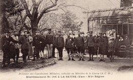 83 LA SEYNE HOPITAL MILITAIRE ETABLISSEMENT N° 168 ASSISTANCE AUX CONVALESCENTS MILITAIRES CLICHE UNIQUE - La Seyne-sur-Mer