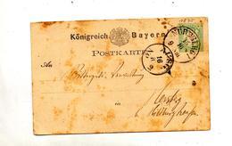 Carte Postale 2 Armoirie Cachet Nurnberg Ausg - Beieren