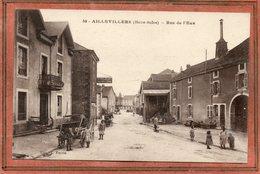CPA - AILLEVILLERS (70) - Aspect De La Rue De L'Eau En 1917 - Frankreich