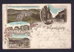 """Carte à Vue """"Gruss Aus Wasselnheim"""" Obl Ferroviaire Molsheim-Zabern Zug 509 30.08.1897 -> Bischwiller - Wasselonne"""