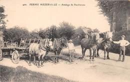 11-MEZERVILLE- FERME MEZERVILLE- ATTELAGE DE PERCHERON - Frankrijk