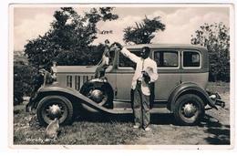 AFR-1250  MONKEY - LAND ( With Old Car ) - Cartes Postales
