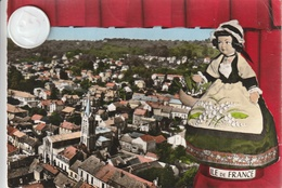 95 - Très Belle Carte Postale Semi Moderne Dentelée De SAINT LEU LA FORET  Vue Aérienne - France