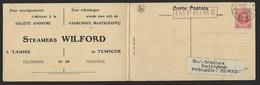 TEMSE * TAMISE * STEAMER WILFORD I * !!! RECLAMEKAART !!! * DUBBEL * ZIE SCANS * 1923 - Temse