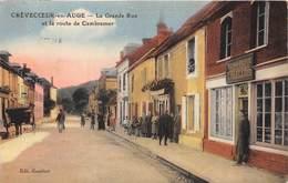14-CREVECOEUR-EN-AUGE- LA GRANDE RUE ET LA ROUTE DE CAMBREMER - France
