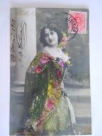 Cpa Femme Bella Oterita Danseuse Espagnole Espagne Circulée 1912 Toledo - Belgique - Artistes