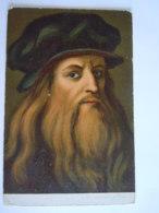 Tableau Schilderij Leonardo Da Vinci Gelopen Circulée 1905 Gand - Artistes