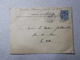Marcophilie - Lettre Enveloppe Obliteration Timbre - Publicite Professionnelle (2444) - 1877-1920: Période Semi Moderne