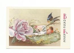 Carte Mignonnette - Bonne Année , Fleurs - Neujahr