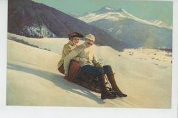 SUISSE - SPORTS D'HIVER - WINTERSPORT - Partie De Luge - Wintersport