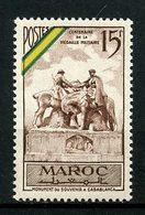 MAROC 1952 N° 319 ** MNH Superbe C 3,60 € Chevaux Horses Médaille Militaire Monument Souvenir Casablanca - Marocco (1891-1956)