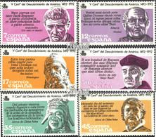 Spanien 2743-2748 (kompl.Ausg.) Postfrisch 1986 Amerika - 1931-Heute: 2. Rep. - ... Juan Carlos I