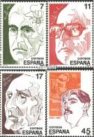 Spanien 2733-2736 (kompl.Ausg.) Postfrisch 1986 Persönlichkeiten - 1931-Heute: 2. Rep. - ... Juan Carlos I