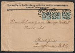 1923 - Deutsches Reich - MeF 3Mio Inflation - Ausland Drucksache Nach Philadelphia, USA - Portogerecht - Deutschland