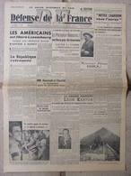 Journal Défense De La France (12 Sept 1944) Pétain Accusé N°1 - Luxembourg Libéré - Charbon - Léon Kartun - Kranten