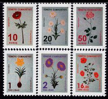 Turkey - 2019 - Marbling Flowers - Mint Official Stamp Set - Nuevos