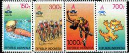 ID0499 Indonesia 1993 Sports Week Bicycle 4V - Indonesia