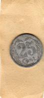 Jeton De 25 Centimes -chambre De Commerce D'Evreux 1921 Aluminium - Monétaires / De Nécessité