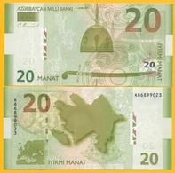 Azerbaijan 20 Manat P-28 2005 (Prefix A) UNC Banknote - Azerbaïjan