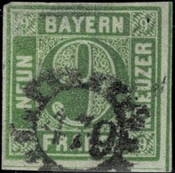 1850, Nr. 5, Type 1, Mi. 130.-, Selten!  ,  #2222 - Bavaria
