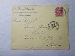 Marcophilie - Lettre Enveloppe Obliteration Timbre - Publicite Professionnelle 1907 (2457) - 1877-1920: Période Semi Moderne