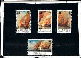 6449B)  ALDERNEY- 1992-3° CENT. DELLA BATTAGLIA NAVALE DI LA HOGUE-SERIE COMPLETA-4 VALORI-MNH** - Alderney
