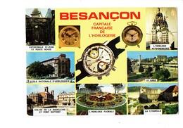 Cpm - 25 - BESANÇON - Multivues Horlogerie Montre LIP Gare école Horloge Réveil - Besancon