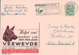 Belgique, Entier Postal Avec Publicité VEEWEYDE, Société Royale Protectrice Des Animaux (2481N) - Entiers Postaux