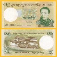 Bhutan 20 Ngultrum P-30b 2013 UNC Banknote - Bhoutan