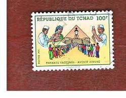 CIAD (CHAD) -  MI 1197  - 1991  CHILD VACCINATION  - USED ° - Ciad (1960-...)