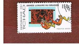 CIAD (CHAD) -  MI 1988  - 2000 DRAGON YEAR  - USED ° - Ciad (1960-...)