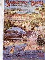 Chemin De Fer P.L.M. -  Sablettes-Les-Bains  - Publicité  -  Artiste: Ch.Beauvais - Ed.Clouet CPM - Autres