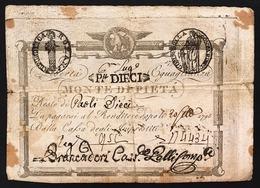 Repubblica Romana 10 Paoli 1798 Monte Di Pietà N.C. LOTTO 2670 - Italia