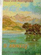 Chemin De Fer P.L.M. -  Lac D'Annecy  - Publicité  - Artiste: Tanconville - Ed.Clouet CPM - Autres