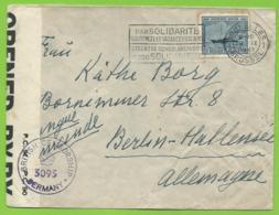 727 Sur L Bruxelles 9 IX 1947 - Vers Berlin - British Censorship 3095 - 1948 Export