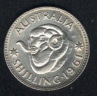 Australien, 1 Shilling 1961, Silber - Shilling