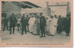 CASABLANCA 20 D  LE RESIDENY LYAUTEY  ET LE SULTAN  MOULAY  YUSSEF  VISITENT LES Uais - Casablanca