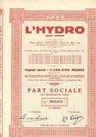 L HYDRO  HOTEL ET HYDROTHERAPIE - Eau