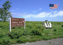 Midway Atoll  Welcome Sign New Postcard - Midway