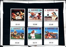 6453B)  ALDERNEY-le Vacanze Dei Wombles-SERIE COMPLETA-MNH** - Alderney