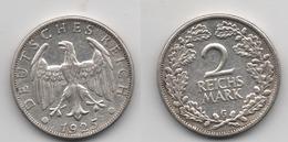 + ALLEMAGNE   + 2 MARK 1925 G  + - [ 3] 1918-1933 : Weimar Republic