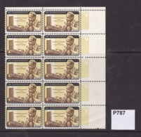USA 1962 Dag Hammerskold COmmem Clock Of 10 With Yellow Colour Shift (MNH) - United States