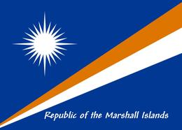 Marshall Islands Flag New Postcard Marshallinseln Flagge AK - Marshall